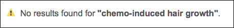 screenshot: SERP for chemo-induced hair growth