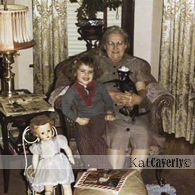 photo of Grandma and Kat Caverly1958